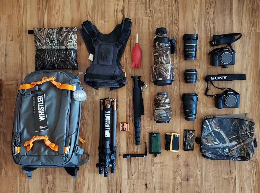 Camera gear Safari