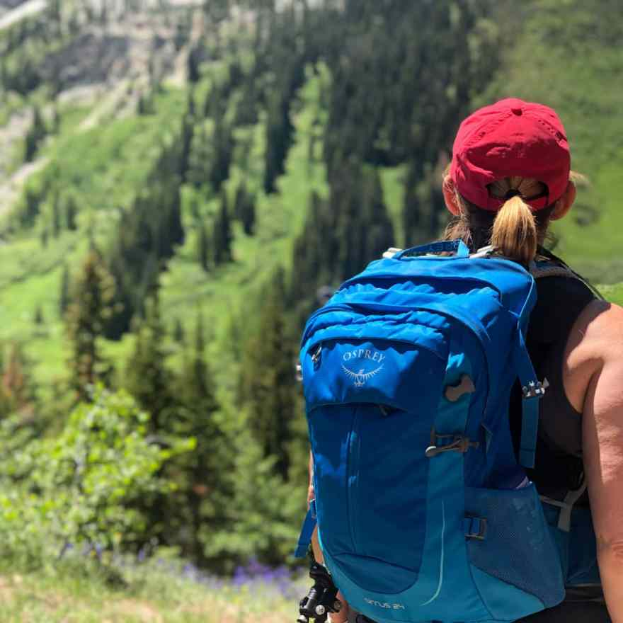 Osprey day pack hiking gear