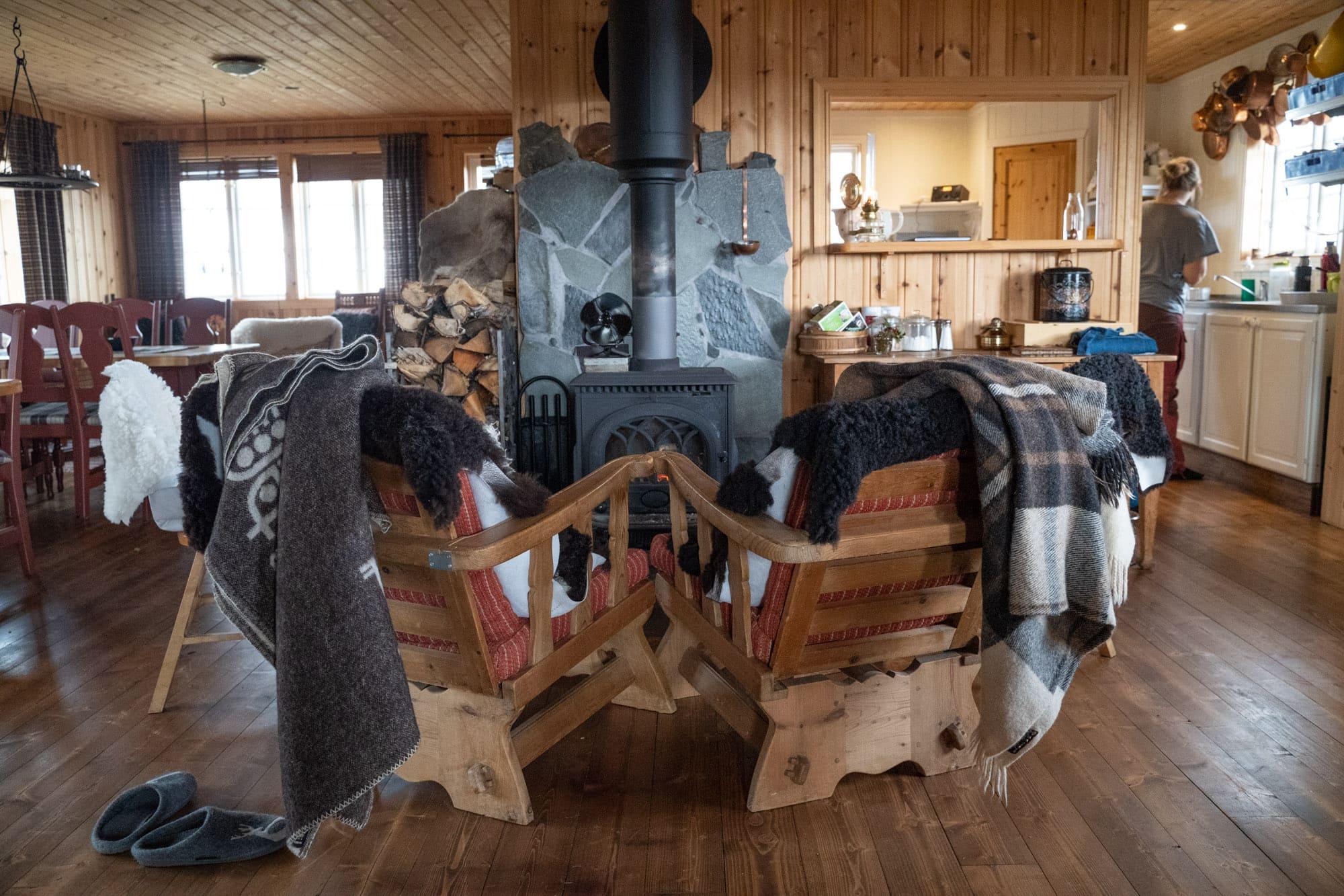 cabin wood stove