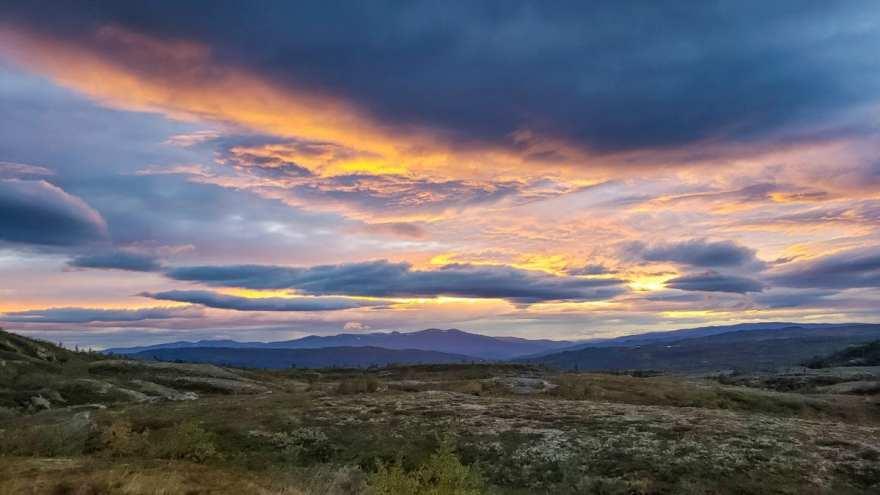 sunrise countryside sweden