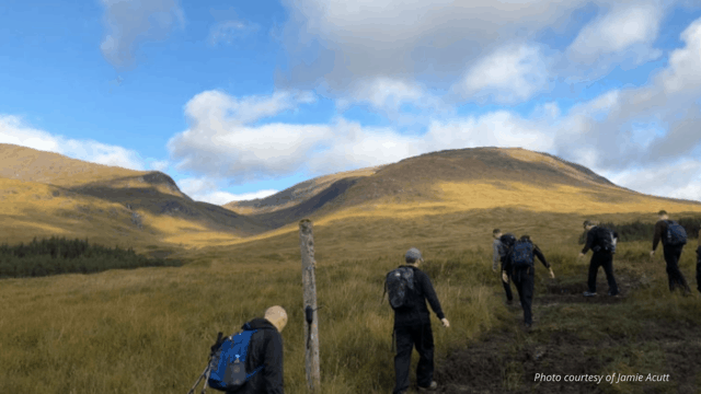 Group hiking
