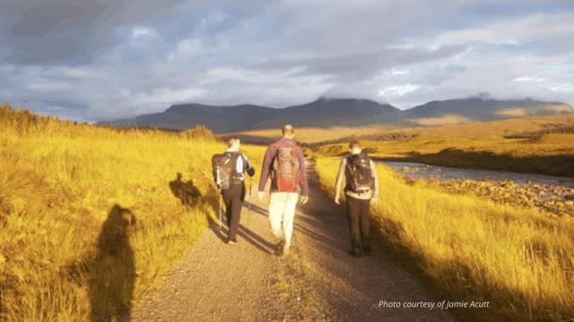 sunset west highland way hike