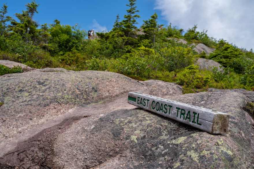 east coast trail marker