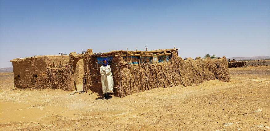 bedouin mud brick home morocco desert