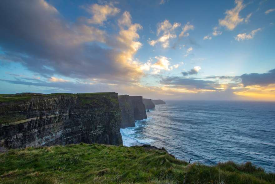 Cliffs of moher ireland sunset