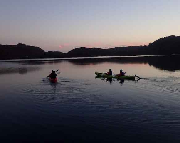 night kayaking west cork ireland