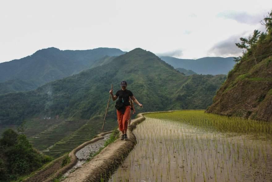 Batad rice terrace hiking
