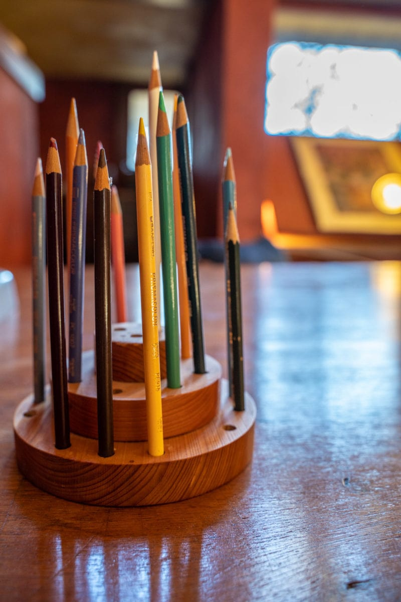 Frank Lloyd Wright drafting pencils