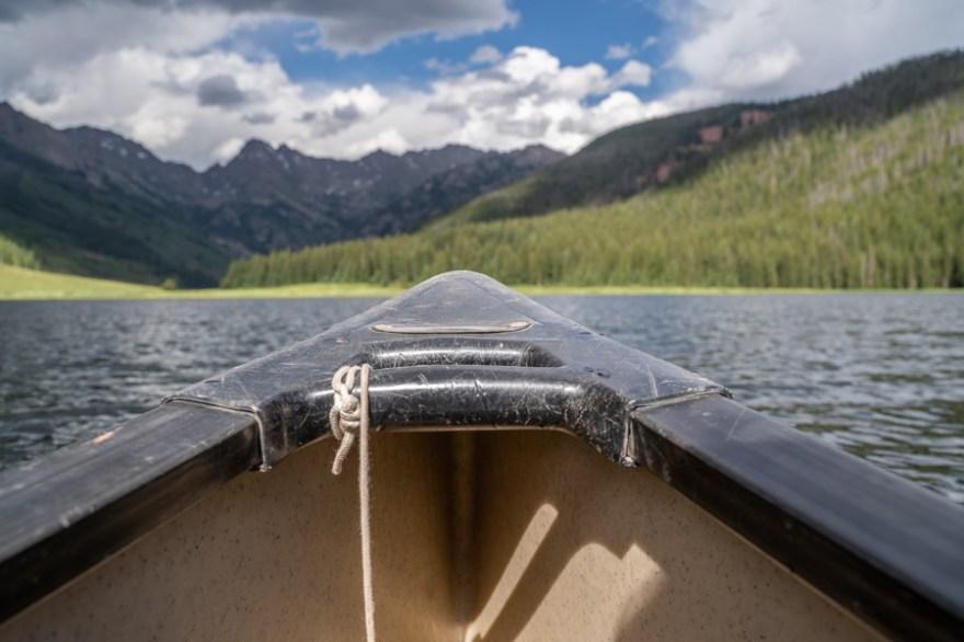 canoe views gore range vail