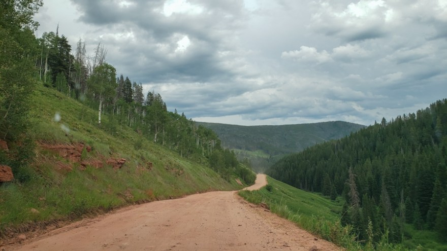 Road to Piney Lake in Vail