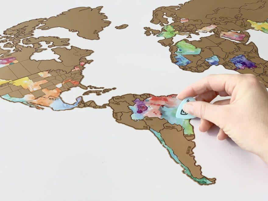scratch off world map gift