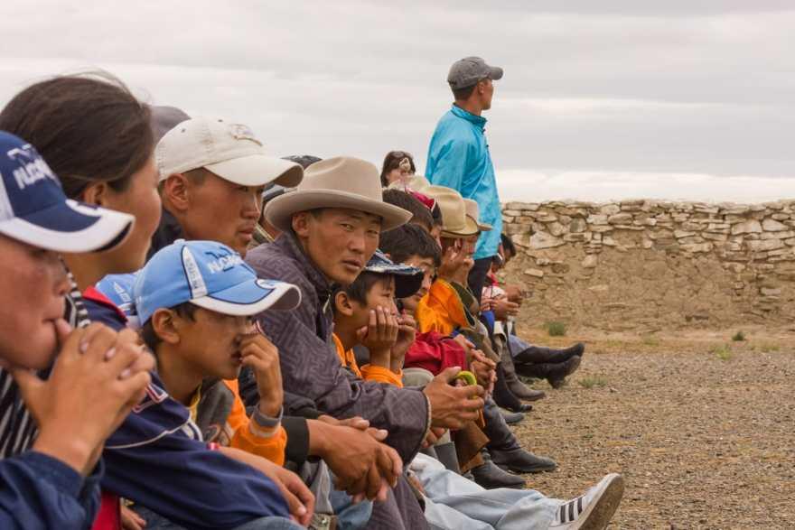 Naadam festival crowd
