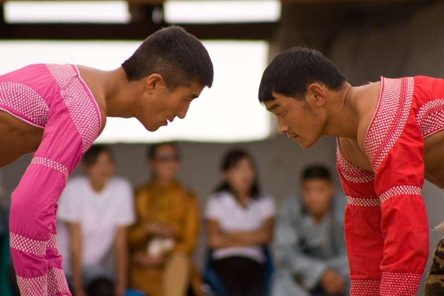 mongolian wrestling stare