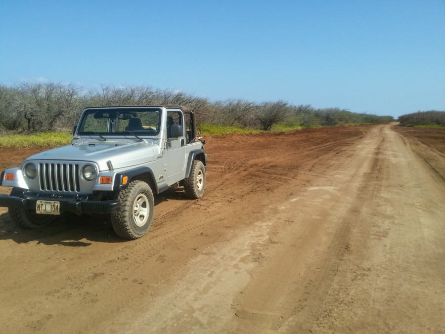 Jeep rental for Polihua trail lanai