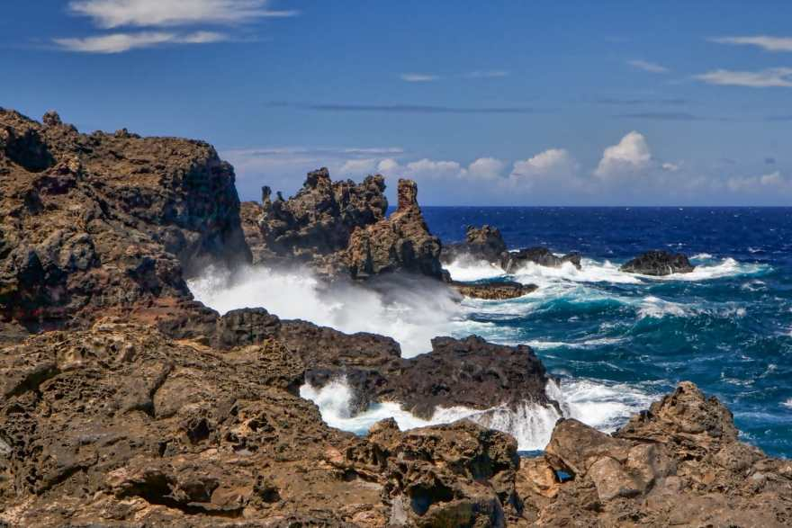 Nakalele Blow Hole coastline