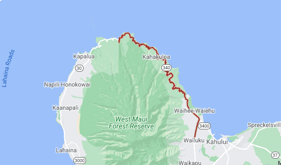 kahekili highway map