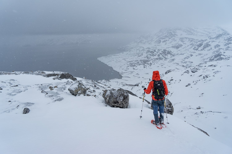 greenland snowshoeing