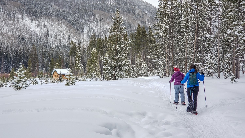 winter park snowshoeing