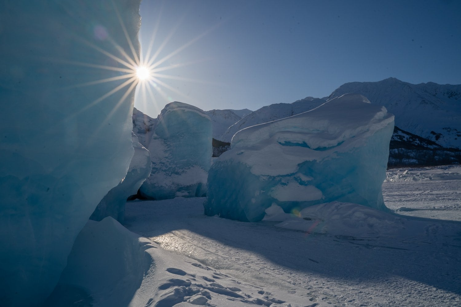 Things to do Anchorage Spencer glacier winter