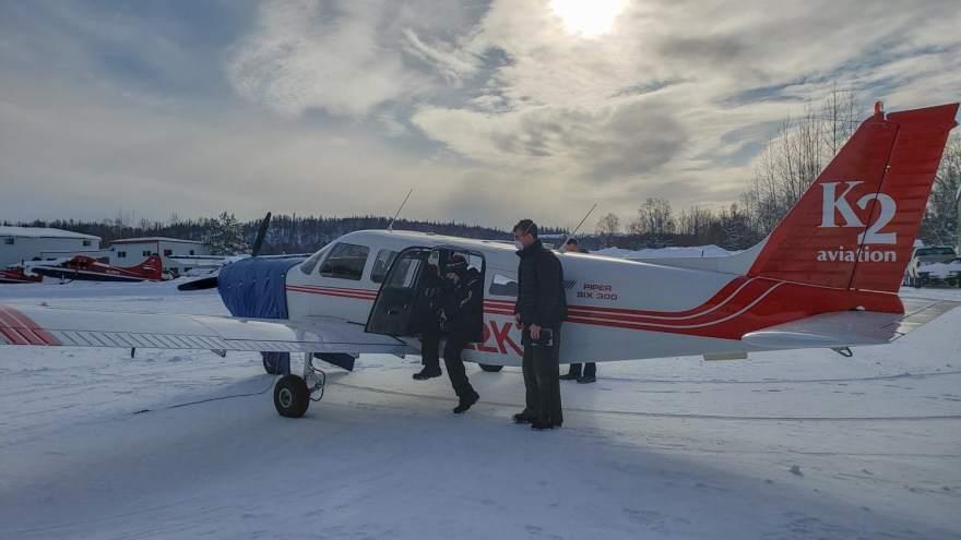 Alaska bush plane winter flightseeing