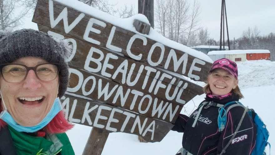Talkeetna Alaska welcome sign