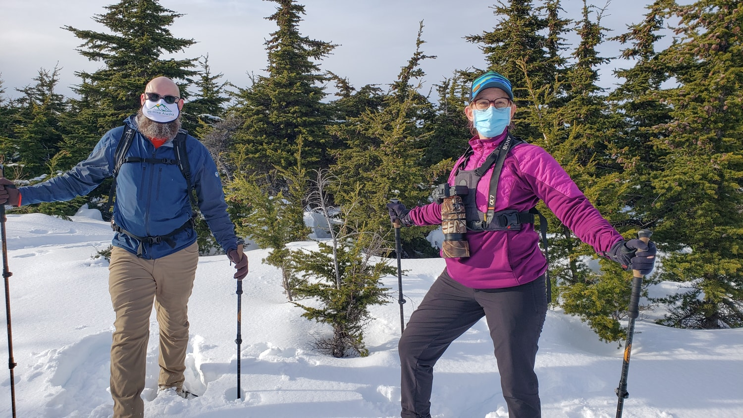 tour guides wearing masks alaska
