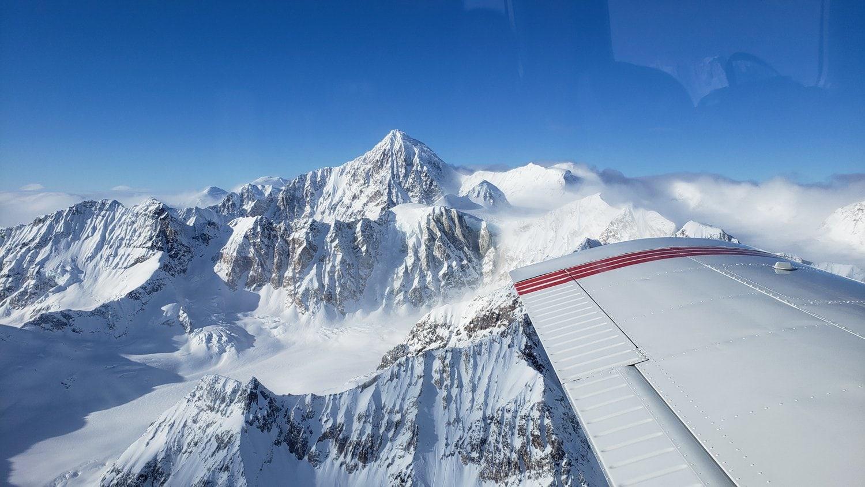 winter flightseeing talkeetna