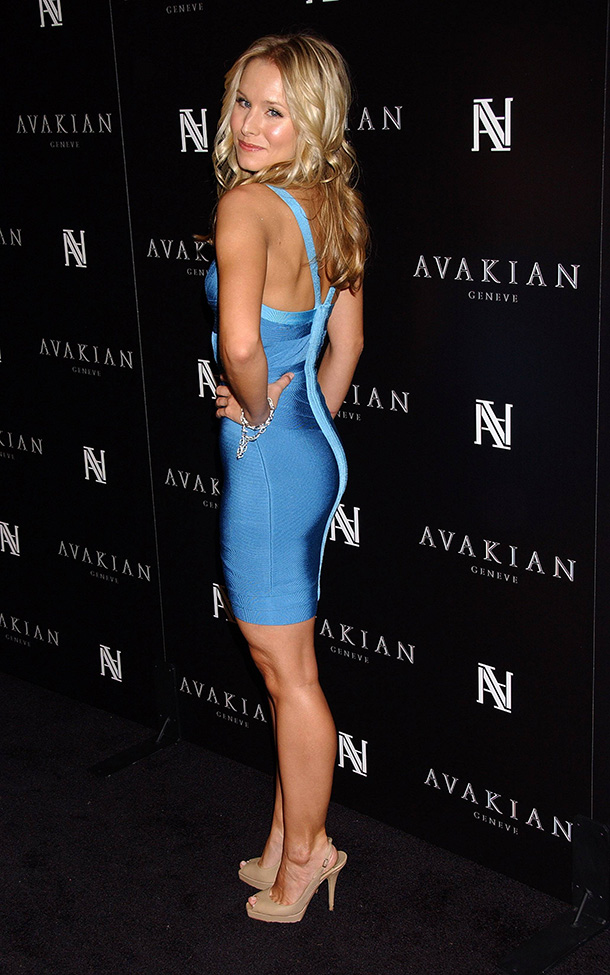 Kristen-Bell-Tight-Blue-Dress