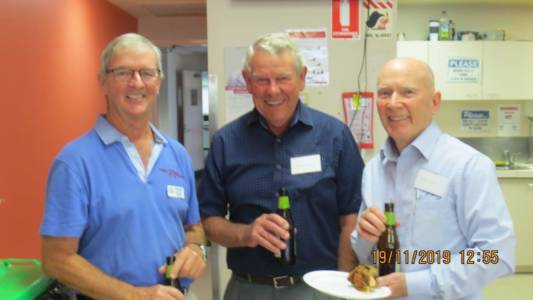 Perth AGM and Luncheon Nov 2019 Peter, Brendan & Chris