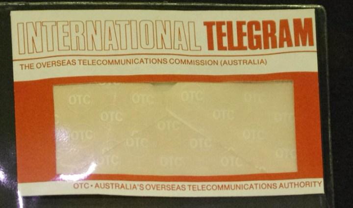 OTC Telegram Envelope