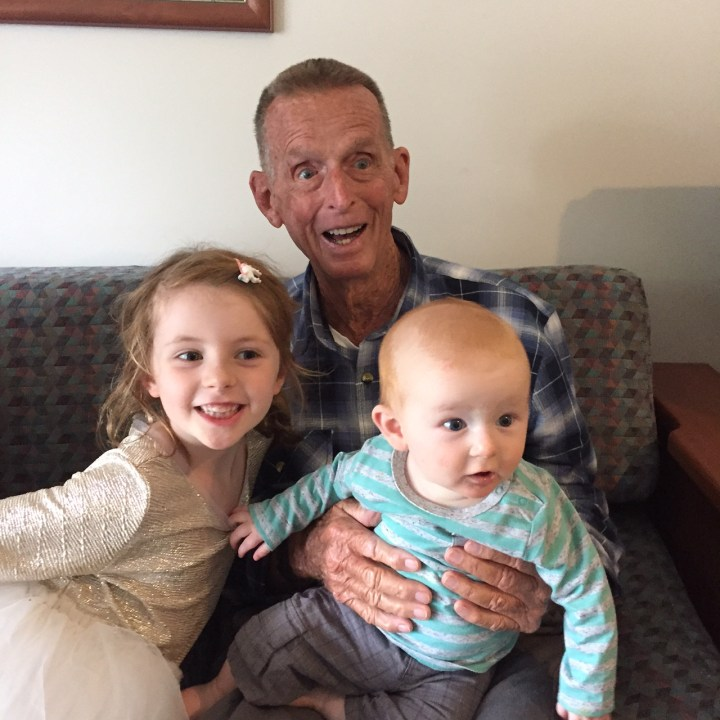 Peter with grandchildren