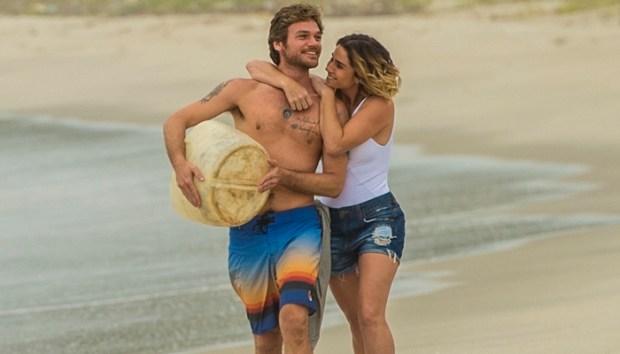 Beto (Emilio Dantas) e Luzia (Giovanna Antonelli) no reencontro em Segundo Sol (Foto: Globo/João Cotta)