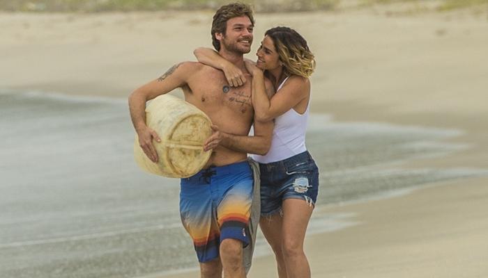 Beto (Emilio Dantas) e Luzia (Giovanna Antonelli) no reencontro em Segundo Sol<br data-recalc-dims=