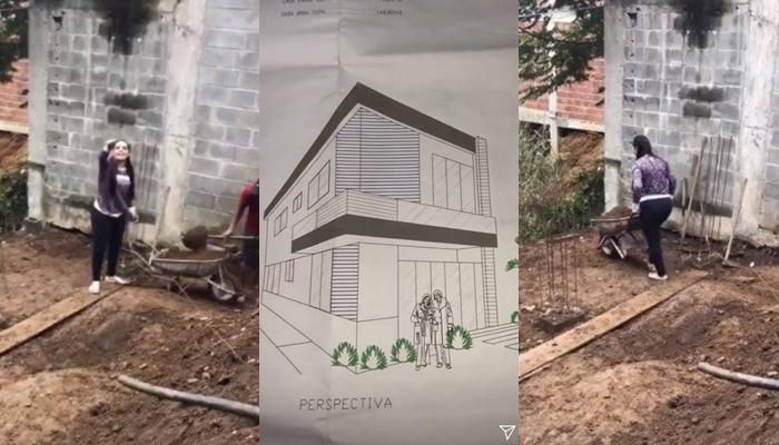 Cantora está ajudando a construir novo imóvel. (Foto: Reprodução/Instagram)