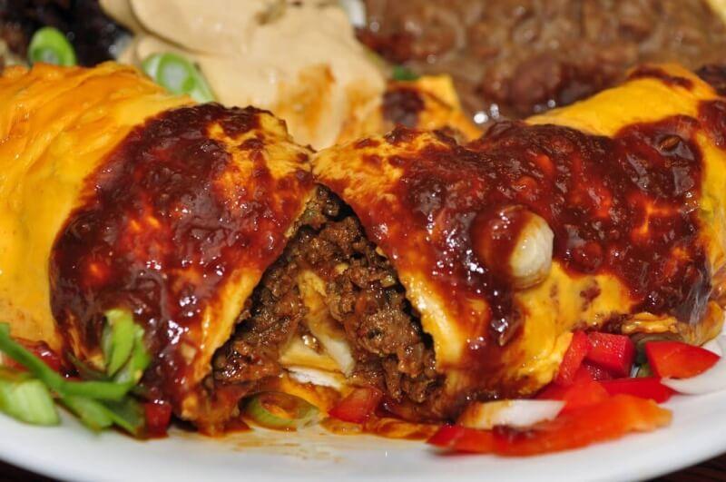 enchiladas au chorizo