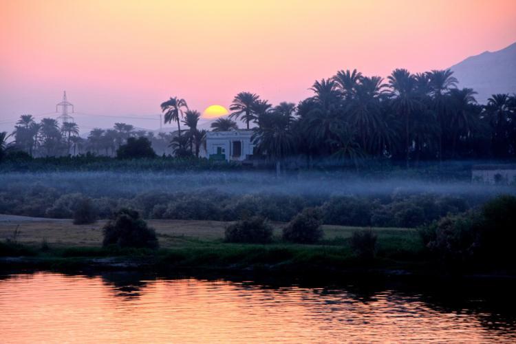 Ce coucher de soleil sur le Nil n'est il pas so romantique ?