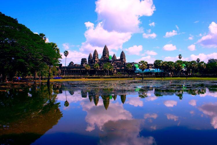 Vue sur Ankgor Wat