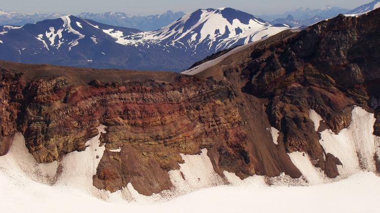 Vue sur le volcan à Antillanca