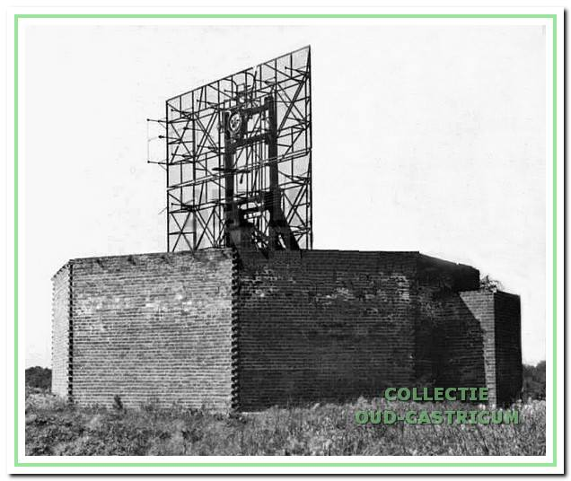 Radarinstallatie 'Freya' op de Zanderij nabij Kijk Uit.
