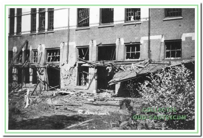 Paviljoen Duin en Bosch na de bomexplosie.