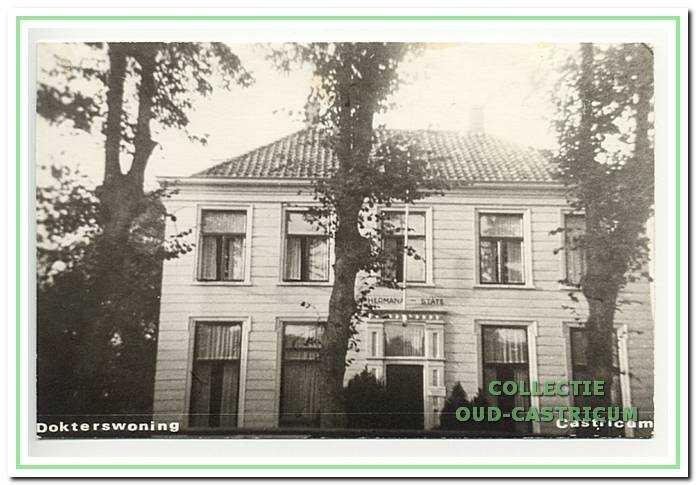 'Hermana State', de in 1964 afgebroken woning van Yeb Schoonhoff aan de Dorpsstraat.