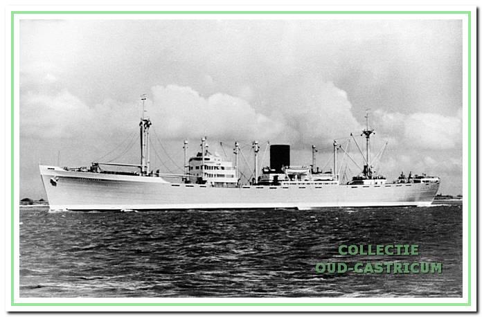 Het laatste schip van kapitein Rommel, motorschip Weltevreden.