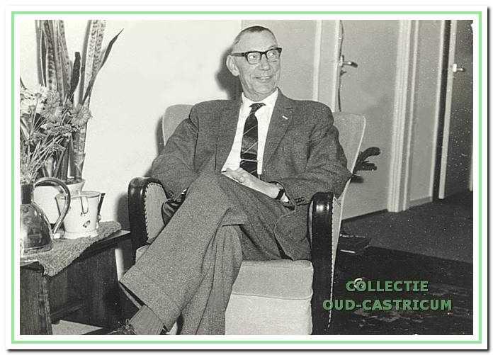 Directeur Jacobus van Hoeve op latere leeftijd.