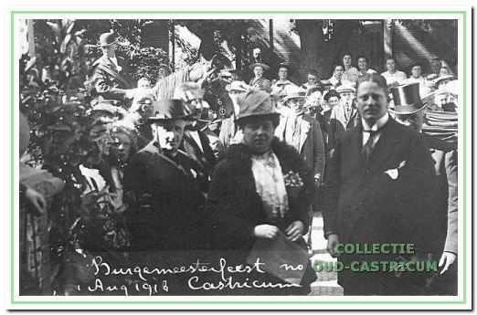 Intocht van burgemeester Lommen op 1 augustus 1918.