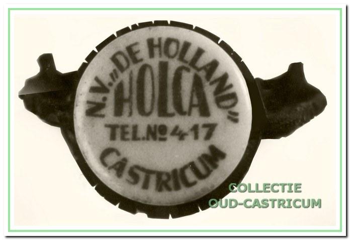 Dop van de Melkfabriek Holland.