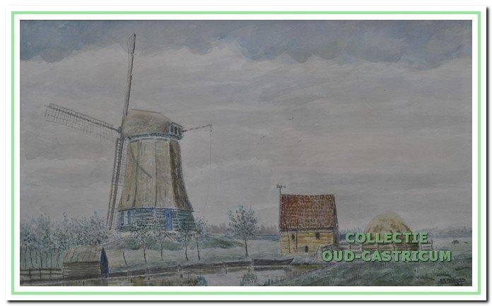 Dit zou de Tweede Broekermolen kunnen zijn die in Uitgeest aan de Lagendijk staat.