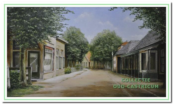 Dorpsstraat met rechts café Van Benthem.