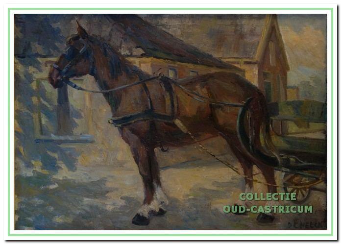 Knophuis met paard op de Overtoom.
