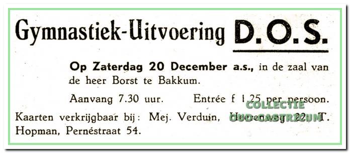 Aankondiging in de krant van een uitvoering in 1947.
