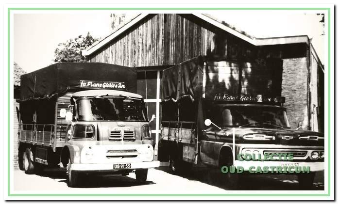 Vrachtauto's van de firma Frans Glorie en Zonen., Eierenglorie.